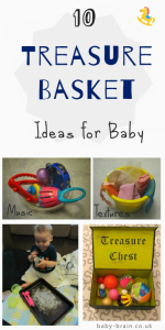 10 treasure basket ideas for baby, theme, content and how to present ideas. treasure baskets & heuristic play from baby-brain.co.uk