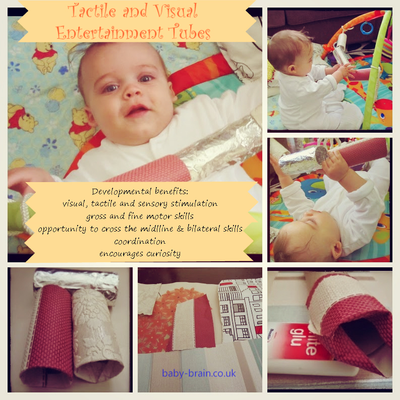 sensory activity with baby - tactile/vsual entertainment tubes - Baby-Brain.co.uk - Psychology resource and perspective on babies and motherhood