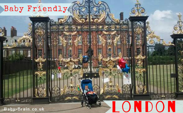 Baby Friendly London - Kensington Palace - places to go with baby and children in London. Reviewed and accessible! baby-brain.co.uk