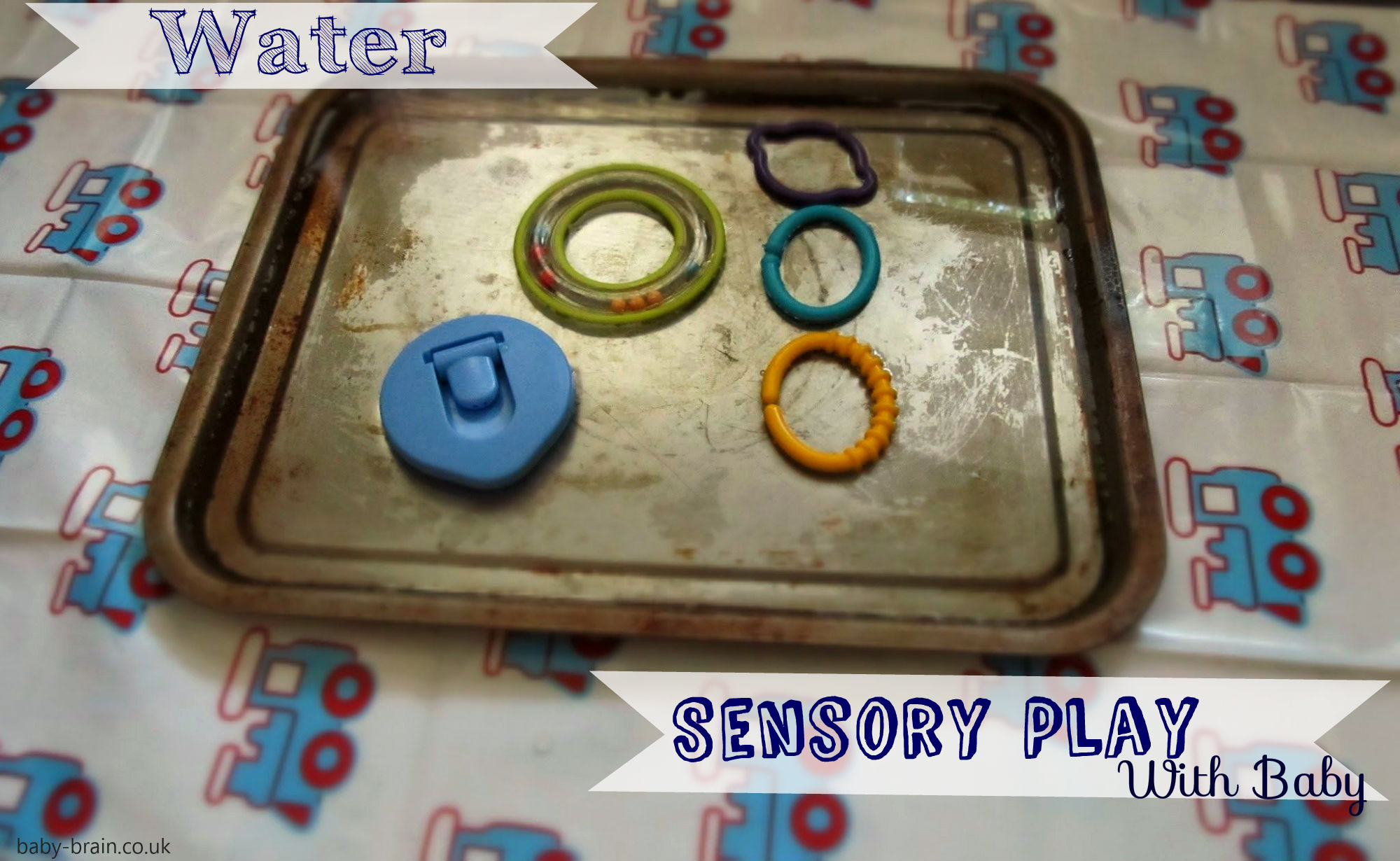 baby water sensory play. baby-brain.co.uk, psychology resource, perspective and blog on motherhood and babies