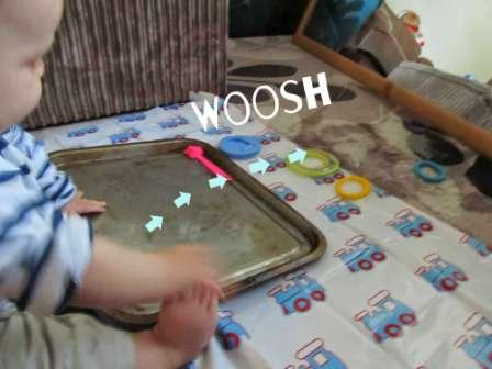 woosh Water Sensory Play idea with baby | Baby-Brain.co.uk psychology resource, perspective & blog on motherhood