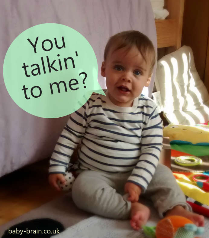 Why talking to babies is important - the psychology of it. Science, brought to you by Baby-Brain.co.uk