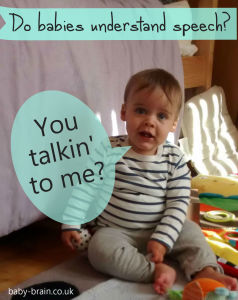 Do babies understand speech? What does the psychological research say - yes! Infant verbal understanding