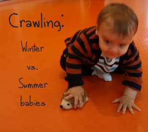Psychological research paper: are there differences in crawling age between winter and summer babies? baby-brain.co.uk. Psychological perspective, resource and blog on motherhood