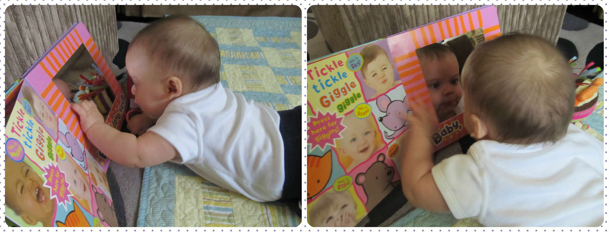 quick easy baby play & activities: Mirror play activity. baby-brain.co.uk psychology resource, perspective and blog on motherhood