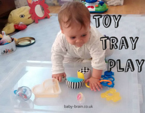 toy tray play baby