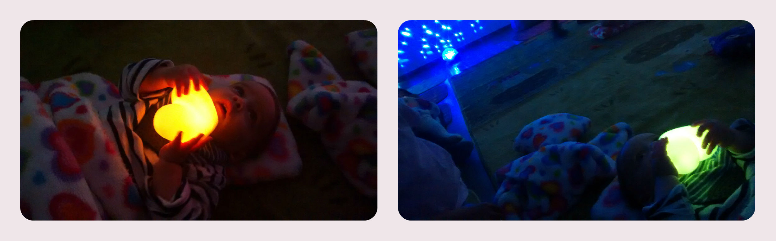 simple & quick baby activity: turn off the lights, light sensory show. baby-brain.co.uk psychology perspective, resource, blog, motherhood and babies