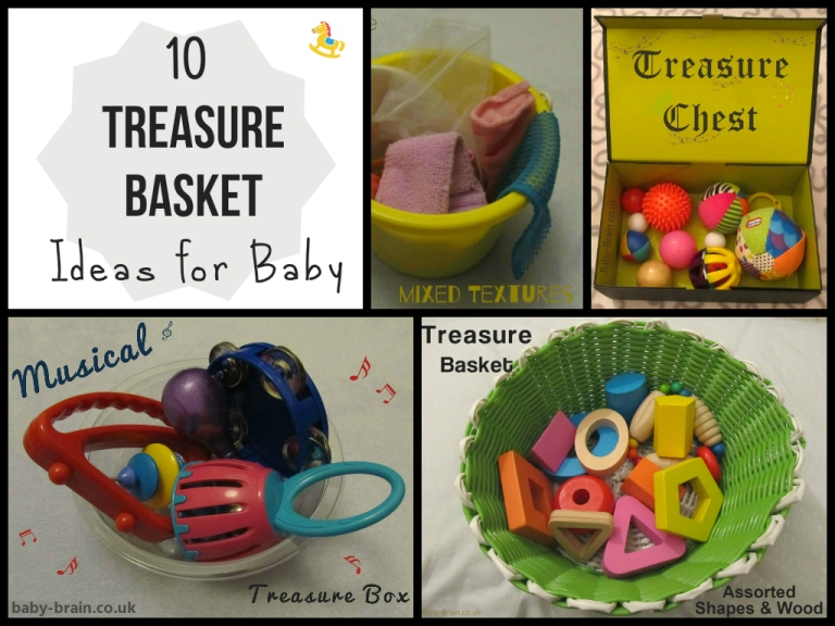 10 treasure basket ideas for baby: ideas for themes, content and how to present them (trays, bucket, basket, treasure shoe box). Treasure baskets & heuristic play - what/why/how - from baby-brain.co.uk