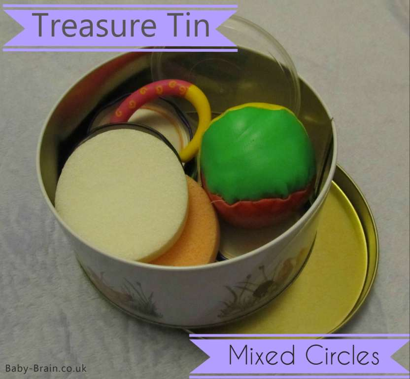 treasure baskets & heuristic play: how, why, what. mixed circles. baby-brain.co.uk