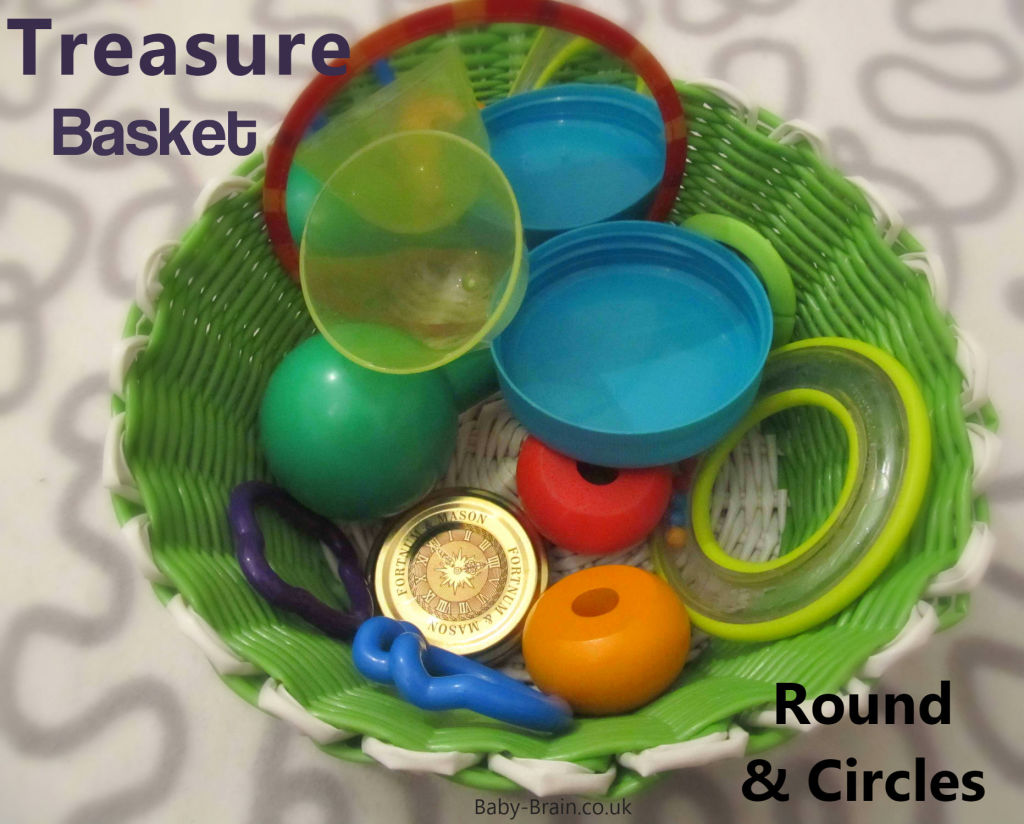 Round and circle shapes. treasure baskets and heuristic play: what, why & how. baby-brain.co.uk psychology resource perspective babies motherhood & blog