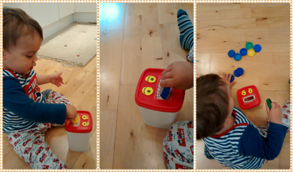 Monster Feeder slot game for babies toddlers - great for fine motor skill development, imagination, arts & crafts, and fun! From baby-brain.co.uk