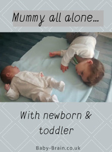 Mum's all alone with the newborn baby and toddler: what it was like and our schedule for the day