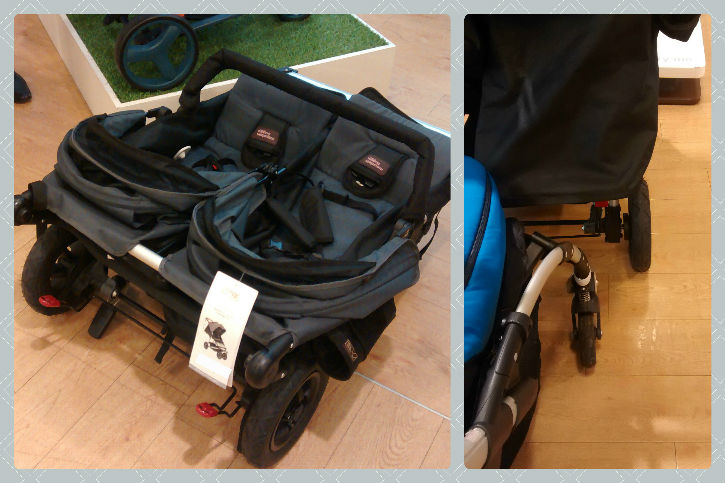 The Mountain Buggy Duet 2.5 - folded and width - Mission to find a double buggy for newborn and toddler review