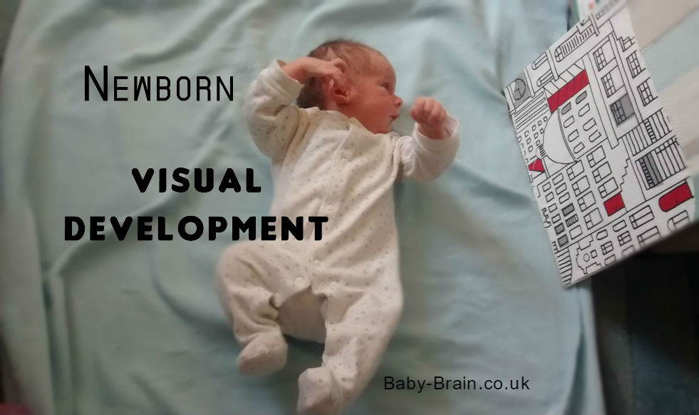 Newborn visual development - how eye tracking develops in the early weeks. Baby-Brain.co,uk