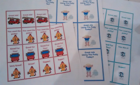 Potty training at 2 years old: Coupons, Rewards and Reinforcement; encouraging the toddler to use the potty