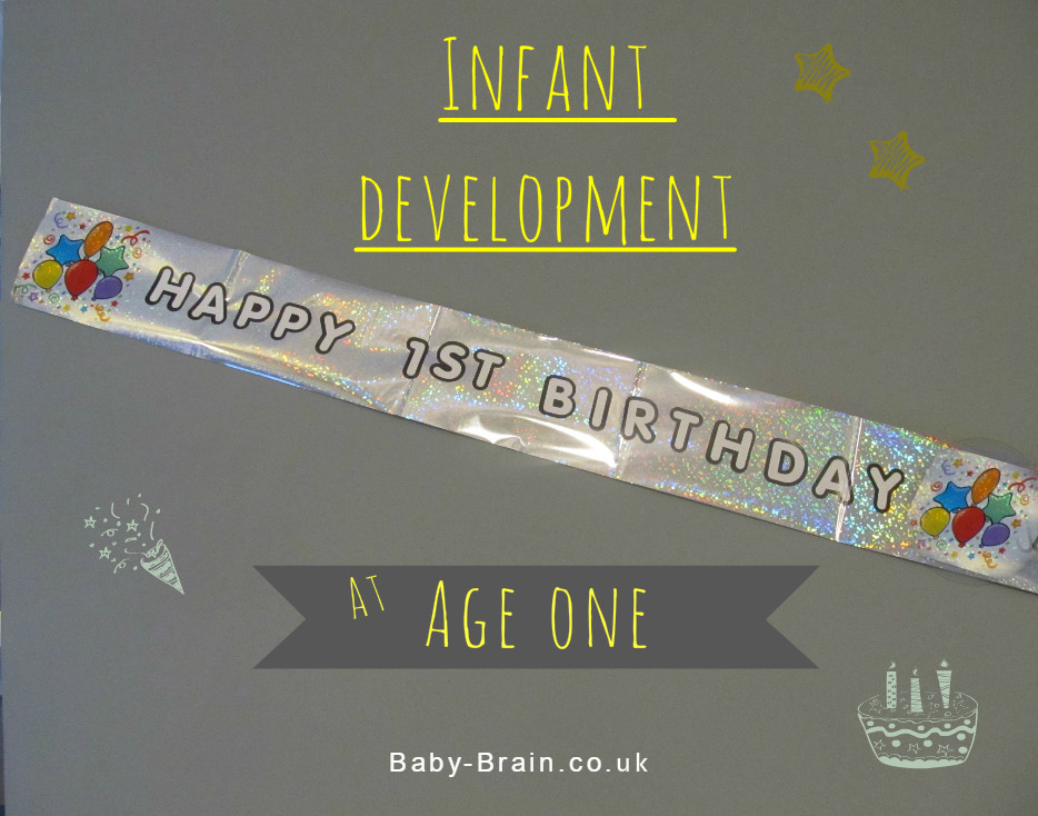 Typical baby development at 12 months old - psychological, physical, social. We are one year old, happy birthday baby!