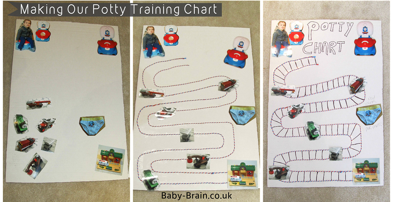 How we made our potty chart - potty training, how to & psychology