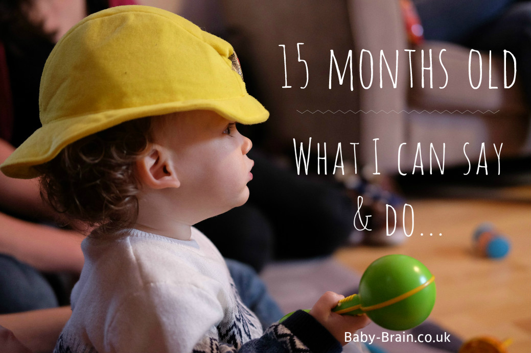 How many words can a 15 month old say? Here's a list of ours and walking progress! baby-brain.co.uk